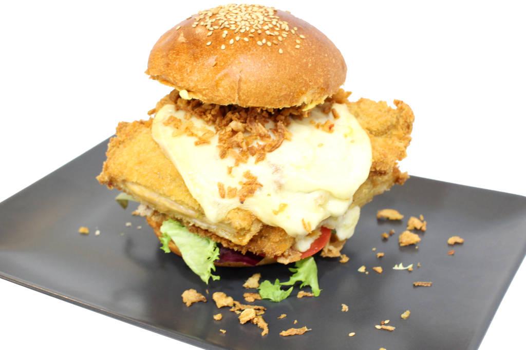 hamburguesa de pollo curry XXL