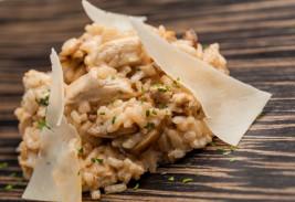 risotto de pollo con setas